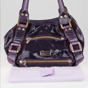 💯 Authentic Jimmy Choo Maddy Patent Leather Bag